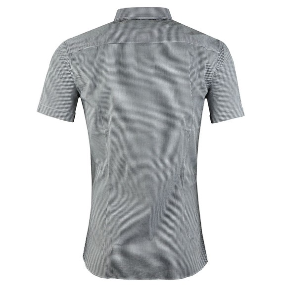 BOSS Mens Blue Casual Magneton Short Sleeve Check Shirt main image