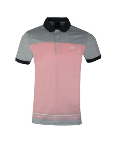 BOSS Mens Red Athleisure Paddy 4 Polo Shirt
