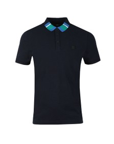 BOSS Mens Blue Casual Polarized Polo Shirt