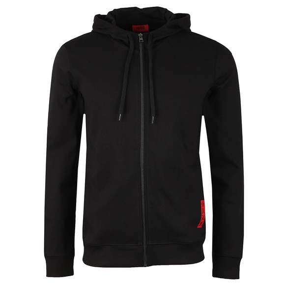 HUGO Mens Black Dondy Full Zip Hoody main image