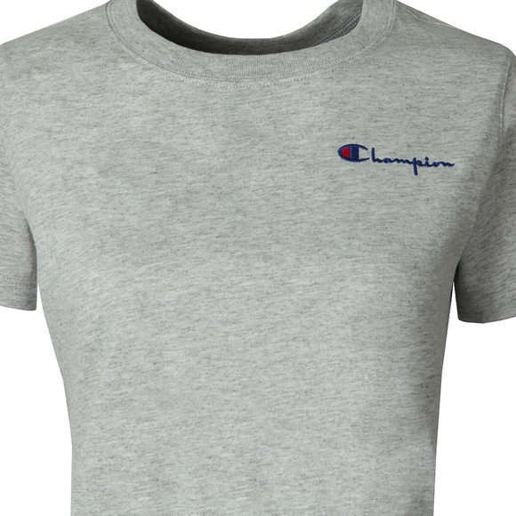 Champion Reverse Weave Womens Grey Crew Neck Small Script Logo Crop Top main image