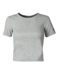 Champion Reverse Weave Womens Grey Small Sleeve Logo T Shirt