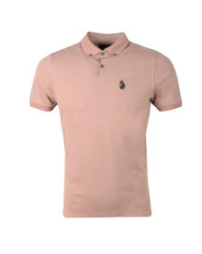 Luke 1977 Mens Pink New Bil Polo Shirt