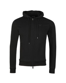 Emporio Armani Mens Black Small Logo Zip Hoody