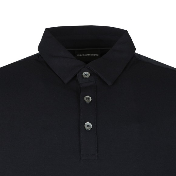 Emporio Armani Mens Blue Jersey Polo Shirt