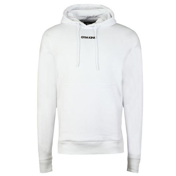 Gym King Mens White Brand Carrier Hoody main image