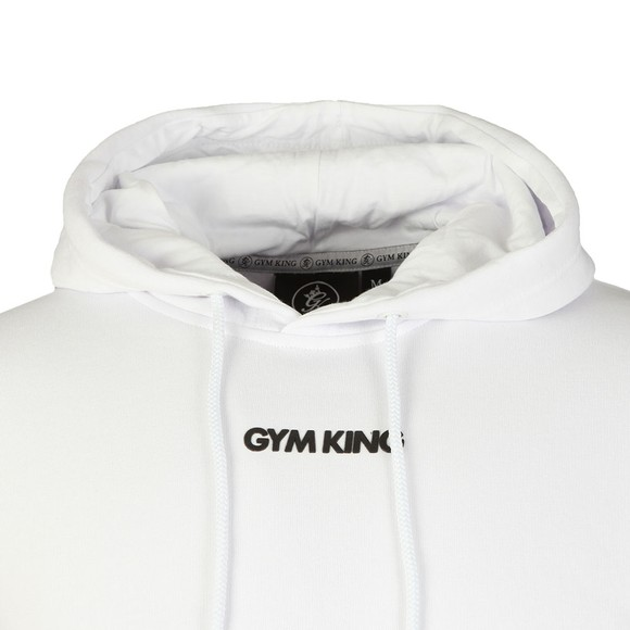 Gym King Mens White Brand Carrier Hoody main image