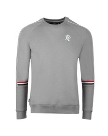 Gym King Mens Grey Woods Retro Taped Sweat
