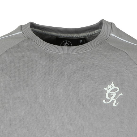 Gym King Mens Grey Woods Retro Taped Sweat main image