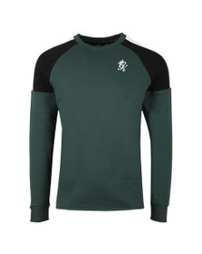 Gym King Mens Green Core Plus Contrast Sweat