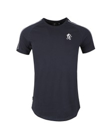 Gym King Mens Blue Lava Retro Taped Tee