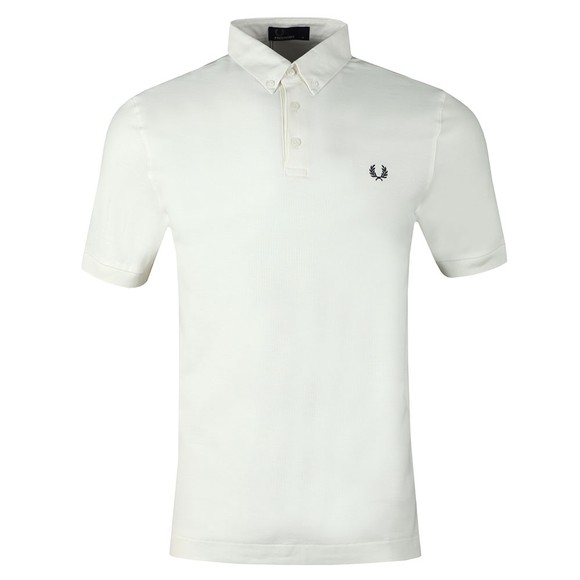 Fred Perry Mens White Oxford Trim Pique Polo main image