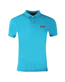 Superdry Mens Blue Mercerised Lite City Polo