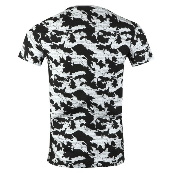 Superdry Mens White International Monochrome Tee main image