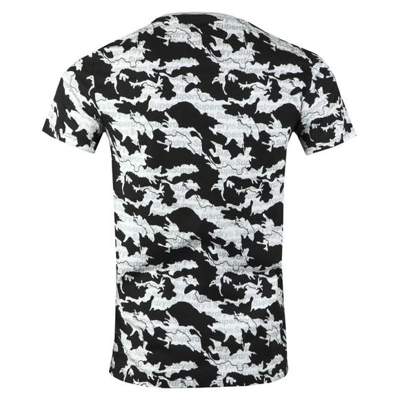 Superdry Mens White International Monochrome T-Shirt main image