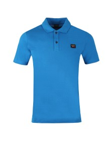 Paul & Shark Mens Blue Chest Badge Polo Shirt