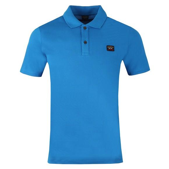Paul & Shark Mens Blue Chest Badge Polo Shirt