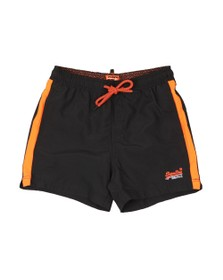 Superdry Mens Black Beach Volley Swim Short