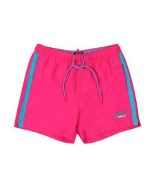 Superdry Mens Pink Beach Volley Swim Short