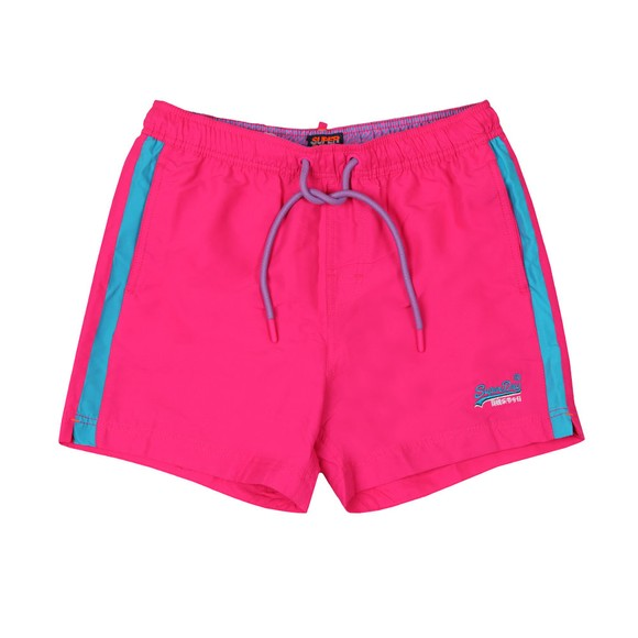Superdry Mens Pink Beach Volley Swim Short main image