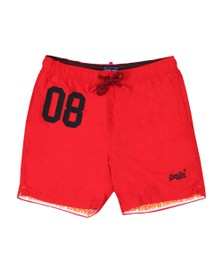 Superdry Mens Red Water Polo Swim Short
