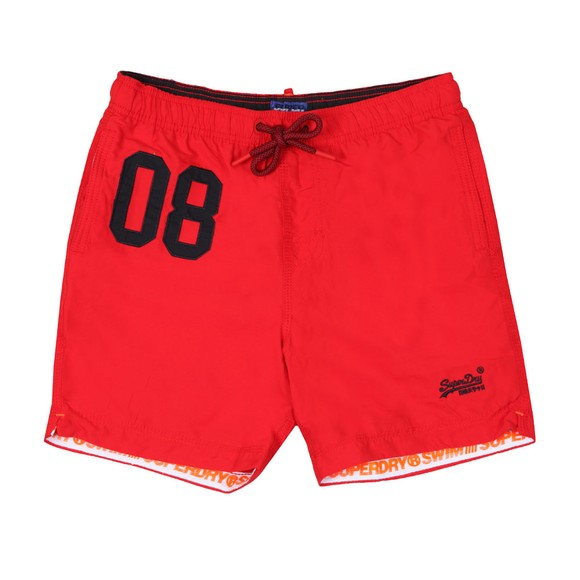 Superdry Mens Red Water Polo Swim Short main image
