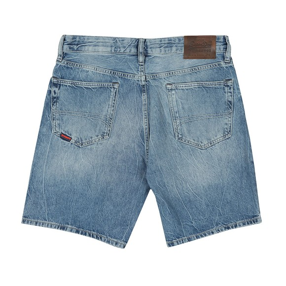 Superdry Mens Blue Conor Taper Denim Short main image