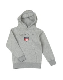 Gant Boys Grey Shield Logo Hoody