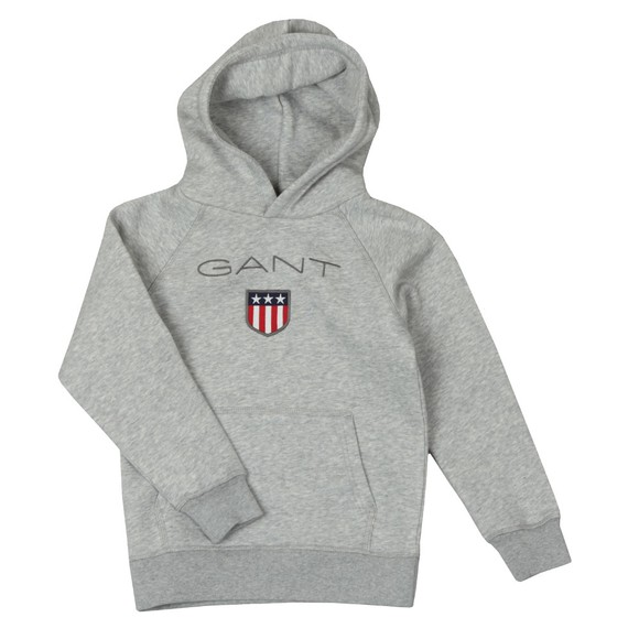 Gant Boys Grey Shield Logo Hoody main image