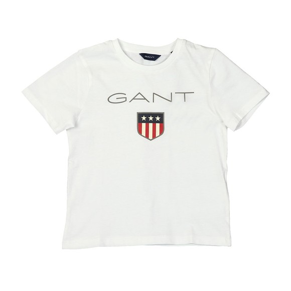Gant Boys White Shield Logo T Shirt main image