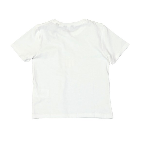 Gant Boys White Shield Logo T Shirt