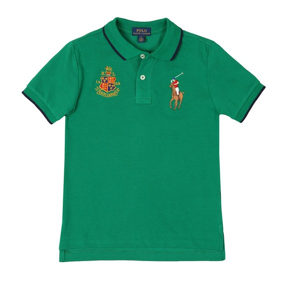 Polo Ralph Lauren Boys Green Big Polo Player Polo Shirt main image