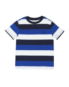 Polo Ralph Lauren Boys Blue Block Stripe T Shirt