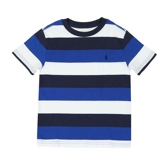 Polo Ralph Lauren Boys Blue Block Stripe T Shirt main image
