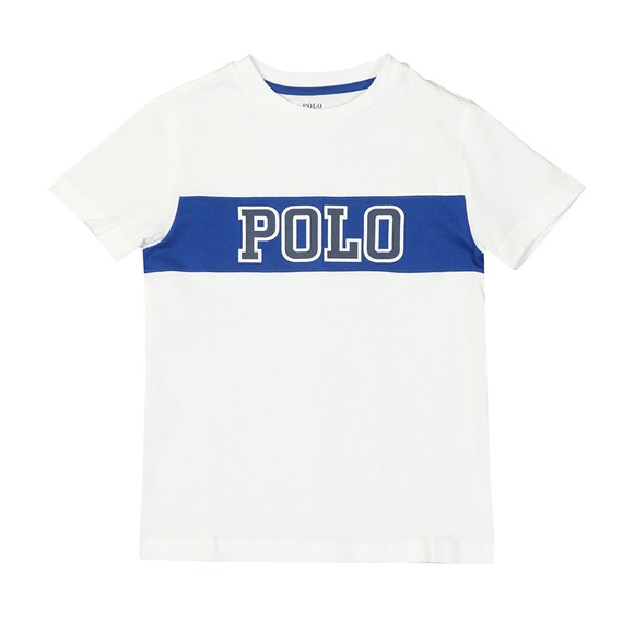 Polo Ralph Lauren Boys White Big Polo Logo T Shirt main image