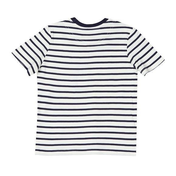 Lyle And Scott Junior Boys Blue Breton Stripe T  Shirt main image