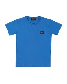 Paul & Shark Cadets Boys Blue Plain Logo T-Shirt