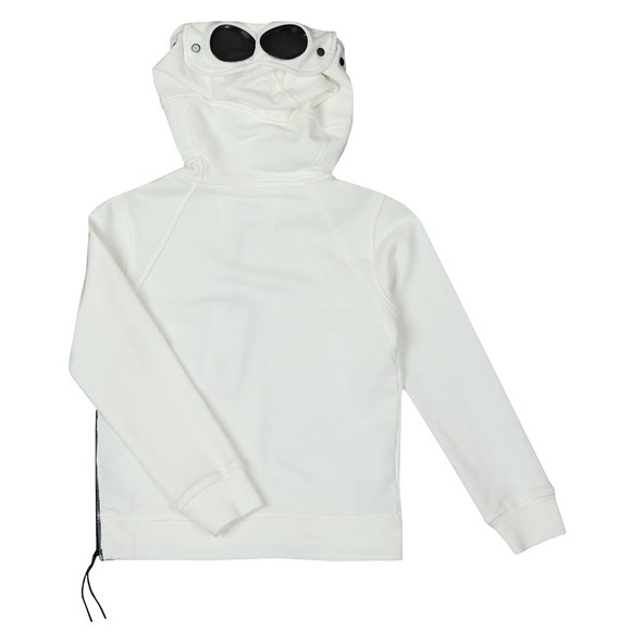 C.P. Company Undersixteen Boys White Goggle Overhead Hoody