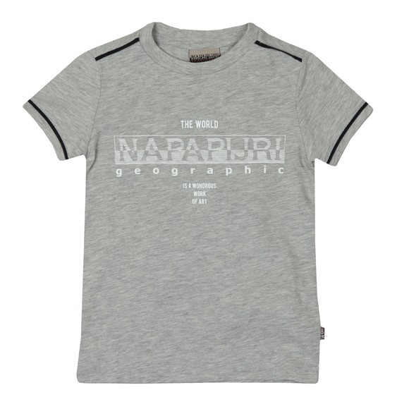 Napapijri Boys Grey Piped Detail T Shirt