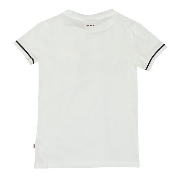 Napapijri Boys White Piped Detail T Shirt