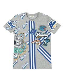 Kenzo Kids Boys Grey Frank Racing Kenzo T Shirt