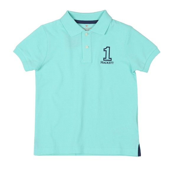 Hackett Boys Blue Number 1 Class Polo Shirt main image