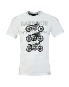 Barbour International Mens White Tri Bike Tee