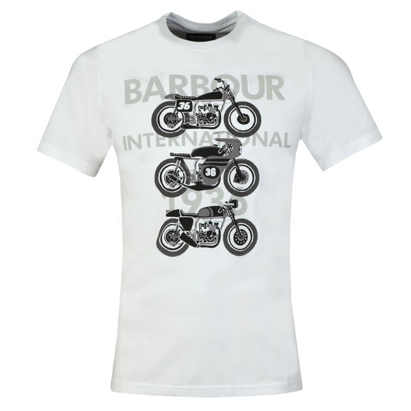 Barbour International Mens White Tri Bike Tee main image