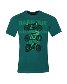 Barbour International Mens Green Tri Bike Tee