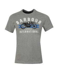 Barbour International Mens Grey Bike Stripes Tee