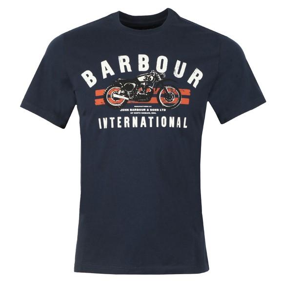 Barbour International Mens Blue Bike Stripes Tee main image