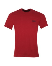 Barbour International Mens Red Small Logo Tee