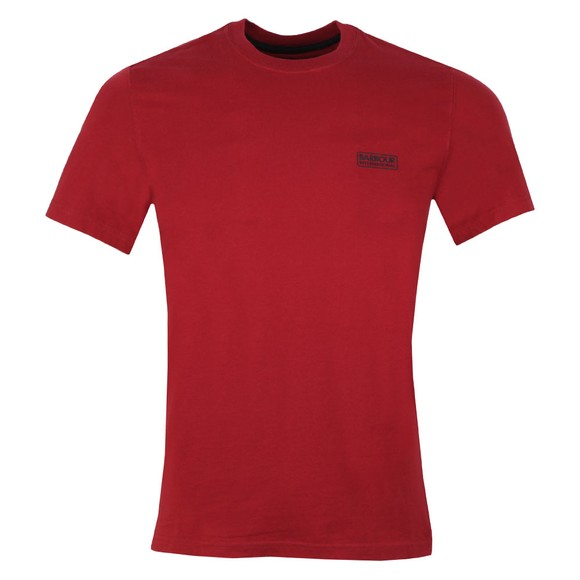 Barbour International Mens Red Small Logo Tee main image