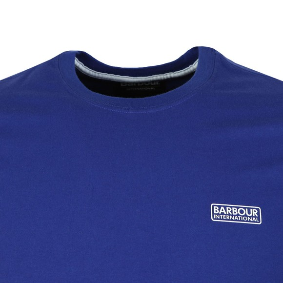 Barbour International Mens Blue Small Logo Tee main image